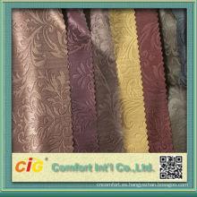 China Pvc grabó en relieve la tela de cuero para la decoración