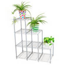Chrome Adjustable Greenhouse Wire Display Shelving for Flower (LD7535120B4C)