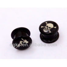 Wholesale body piercing jewelry skull ear expander stretcher