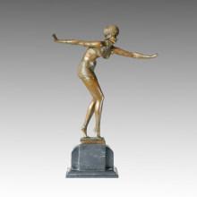 Dancer Statue Bikini Lady Bronze Sculpture, D. H. Chiparus TPE-231