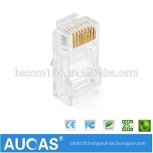 AMP cat5e utp gold-plated rj45 modular plug/24awg shielded toolless 90 degree /keystone jack 8p8c telephone connector