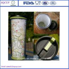 Wholesale Promotional Photo Insert Mug Double Wall Plastic Mug, Advertisement Mug, Plastic Starbucks Travel Mug