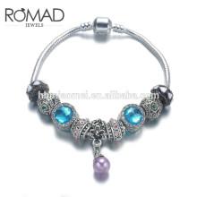 OEM Promotion Fashion Colorful Natural Stone Paracord Copper Bracelets