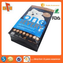 Colorido impressão plástico gusset fundo plano folha de alumínio zipper saco de alimentos para cães embalagem 3kg 5kg