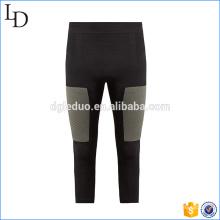 Calças de compressão de desempenho recortadas calças de fitness personalizado correndo