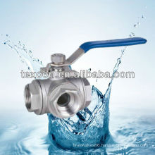 stainless steel tee ball valve