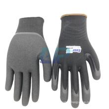 EN388 4121 13G Nylon Liner Nitrile Work Gloves with Sandy Coating