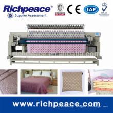 Máquina de bordar e bordar com edredão informatizado com cortador automático de rosca