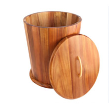 Balde de arroz de madeira vendendo quente ou recipiente de armazenamento