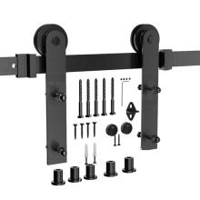Classic sliding top mounted barn wood door hang roller track hardware