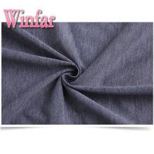 Spandex Melange Polyester Knit Single Jersey Fabric