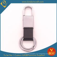 China Kundengebundene Qualität Ihre eigene Logo-Leder-Schlüsselkette am Fabrik-Preis