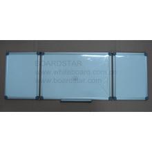 Pizarra blanca de escritura plegable magnética con marco de aluminio (BSTFD-A)