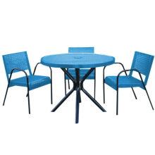 Углеродистая сталь обеденный стол таблицы сад с шезлонгами