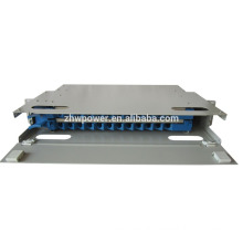 Outdoor patch panel ,draw type optical fiber patch panel, 1U 19inch 24 port fiber patch panel