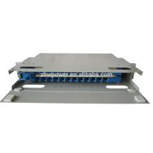 Патч-панель на открытом воздухе, патч-панель оптического волокна для рисования, 1U 19-канальная плата с 24-портовыми волокнами