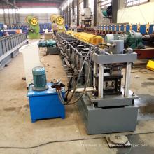 Últimas prateleira de rack de armazenamento de controle de computador rolo de baixo custo frio formando máquina com perfuração