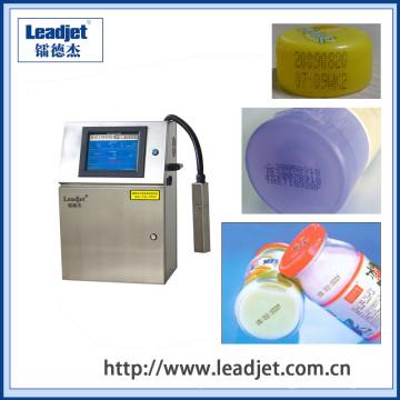Impresora plástica de la fecha de vencimiento de la botella de inyección de tinta automática de Leadjet