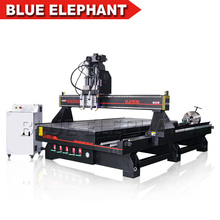 3d Rotary Cnc Router 2 Spindles Multi use Wooden Furniture Leg Cylinder Objects Woodworking CNC Router for sale