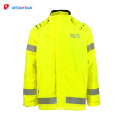 Nouveau design vente chaude à la mode haute visibilité fluorescent sécurité rainsuit