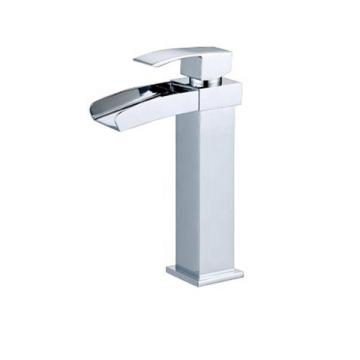 Elegant designs single handle washing basin tap water saving waterfall bathroom faucet