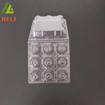 9 trous M taille claire transparent en plastique porte-oeuf emballage pour regrigerator