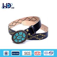 Antique style ladies leather fashion belt