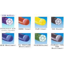 Suturas quirúrgicas hechas de diferentes materiales