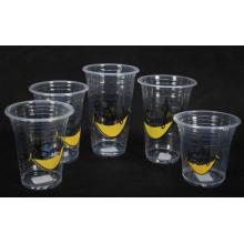 Пластиковые стаканчики с разными логотипами