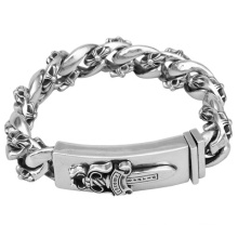 Custom Wholesale New Style Neo-Gothic Cool Sword Bracelet Amazon Hot Selling Stainless Steel Chain Jewelry