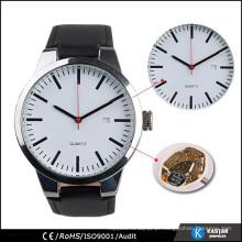 Smart watch japan movt relógio de quartzo aço inoxidável de volta