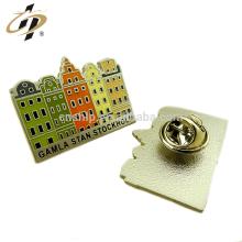 Wholesale custom enamel metal house design badge pins