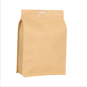 Custom Logo Printed Stand-Up Ziplock Kraft Paper Bags
