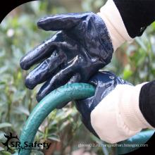 SRSAFETY дешевые синие нитриловые перчатки легкие рабочие перчатки с EN388