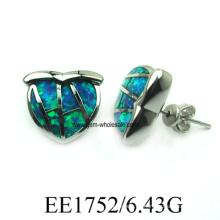Bijoux Boucles d'oreilles opale en laiton (YE00016)