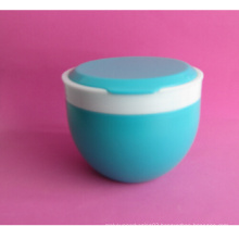500ml HDPE Powder Jar with Two Colored Clousre
