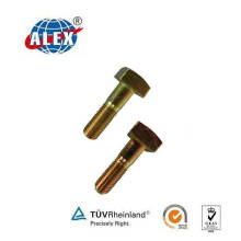 Square Head Bolt with Yellow Zinc Plated Surface