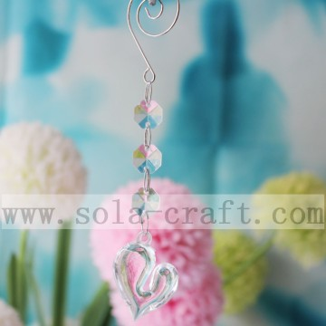 Acrylic Transparent Chandelier Prisms Lovely Heart Drops
