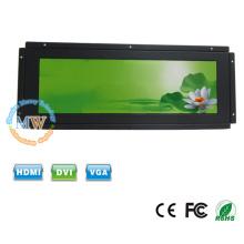 Monitor ultra largo da cor de TFT do quadro aberto de 14 polegadas com entrada da CC 12v