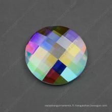 Pierres de verre arrières plates de dos de 30mm 40mm pour la décoration de bijoux