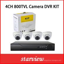 "4CH DVR Kits + 800tvl 1/3 ""Cámaras Domo Cmos CMOS"