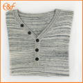 Mode V Neck Cotton Lad Button Sweater