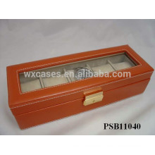 leather watch box for 5 watches manufacturer wholesales