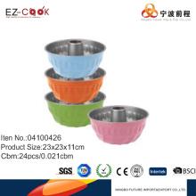 D23cm coloré bundt pan