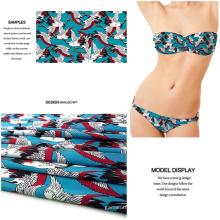 Digital impreso poliester Spandex tela para traje de baño / ropa de Jersey
