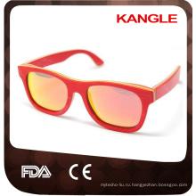 Се FDA сертифицированным поставщиком вэньчжоу с поляризовыванным объективом скейтборд деревянные очки