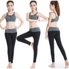 Traje de entrenamiento de gimnasia de las mujeres Sujetador deportivo y pantalones de las polainas Entrenamiento de la aptitud