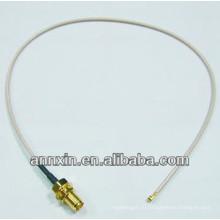 Протокол IPX / у.FL на RP-SMA женский переборка уплотнительное кольцо RG178 15 см РФ коаксиальный разъемы кабель соединительный кабель Ассамблеи