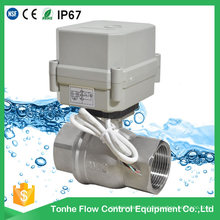 OEM Dn32 DC12V/24V Stainless Steel 316 304 Electric Motorized Ball Control Valve