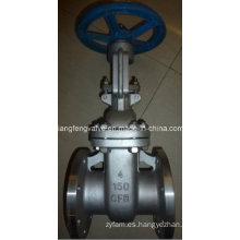 Válvula de compuerta de brida de acero inoxidable de 150 libras